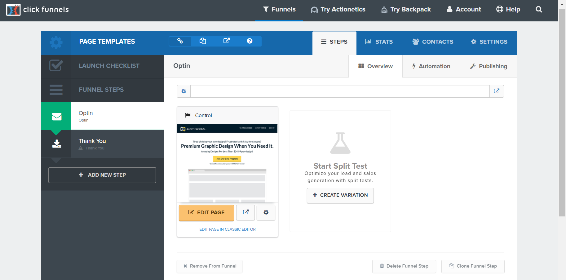 Clickfunnels Review - Page Templates