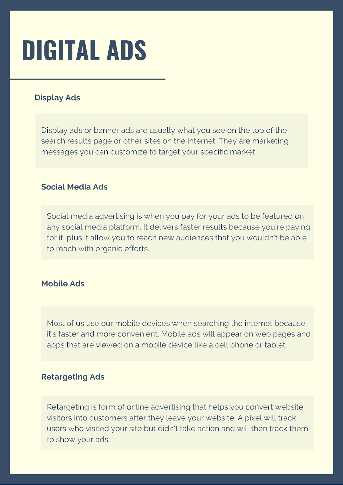 different types of digital advertising