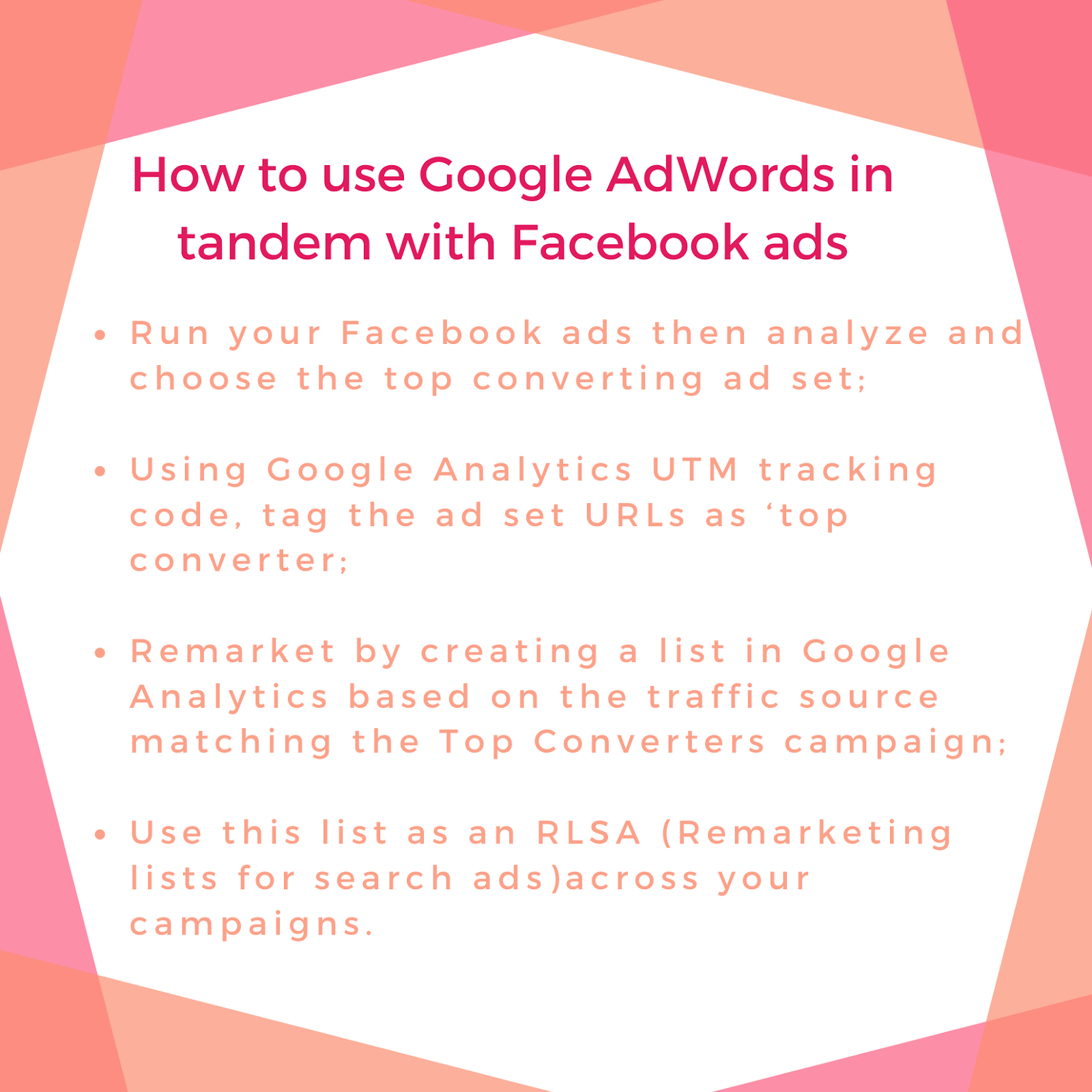 how to use google adwords and facebook ads
