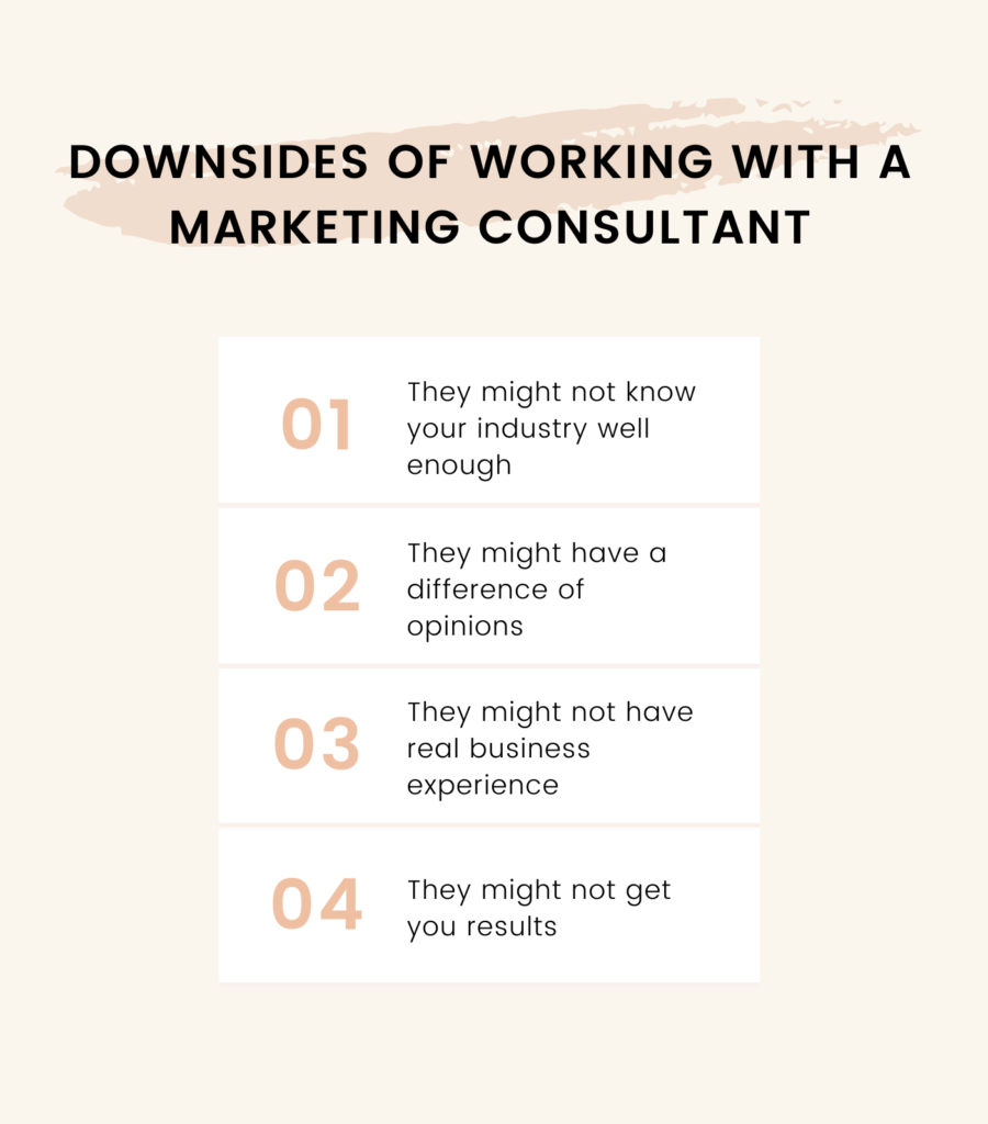 working with a marketing consultant