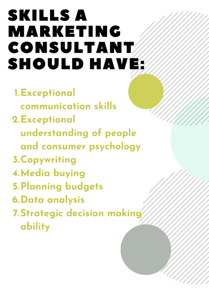 skills a marketing consultant should have