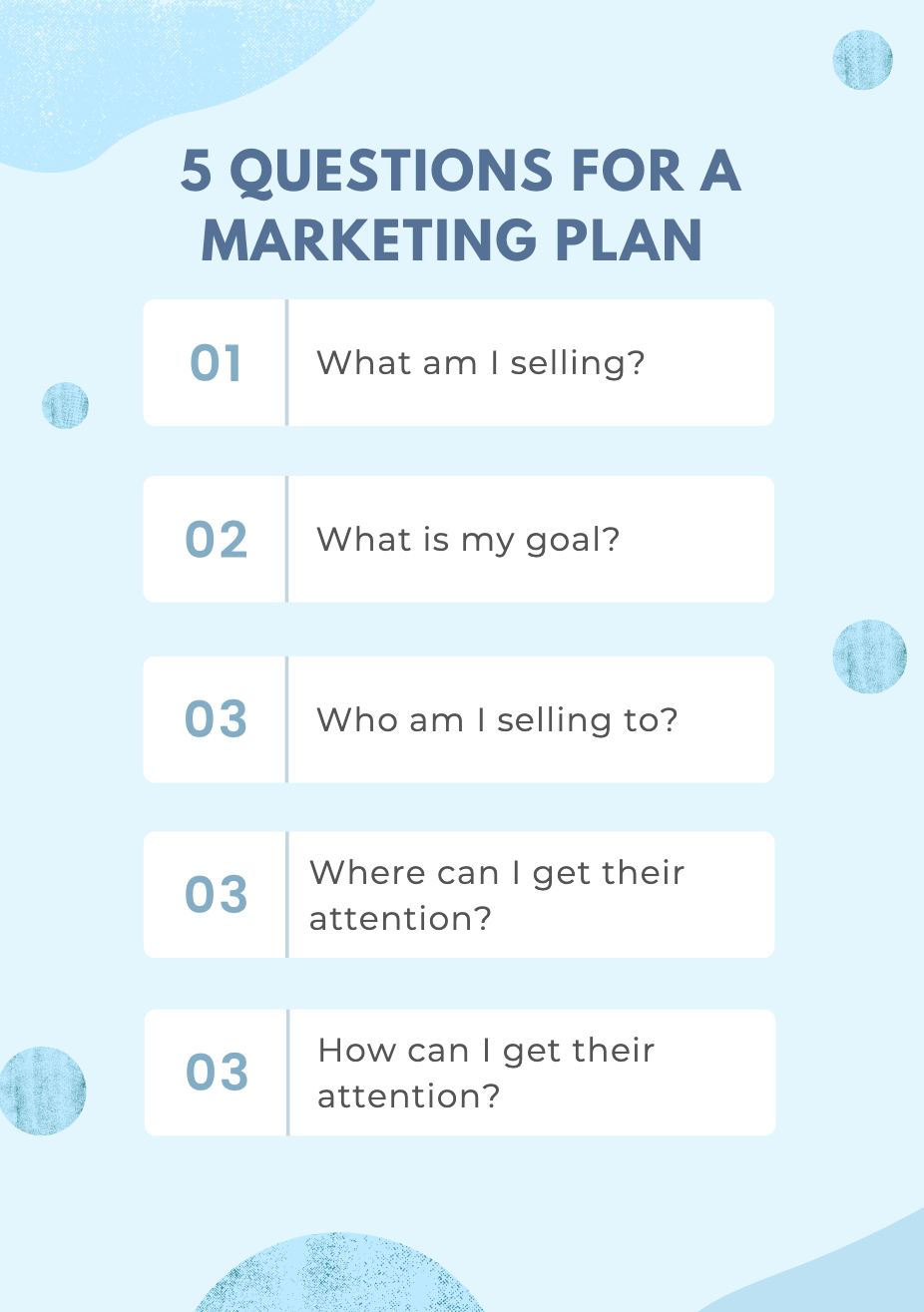 5 questions for a simple marketing plan