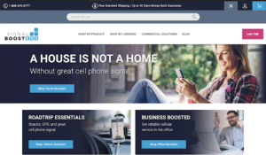 signal boosters ecommerce website design
