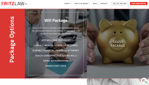 Fritz Law best law firm websites