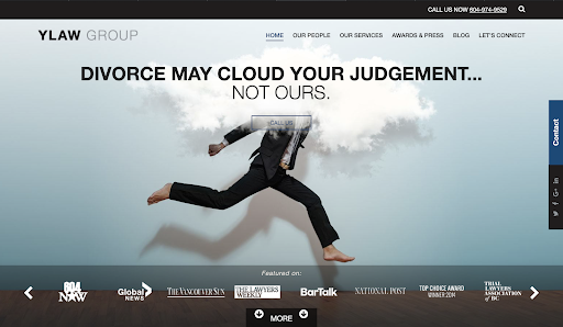 YLaw Group best law firm websites