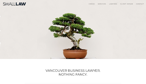 Small Law best law firm websites