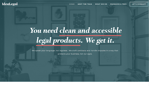 Ideal Legal best law firm websites