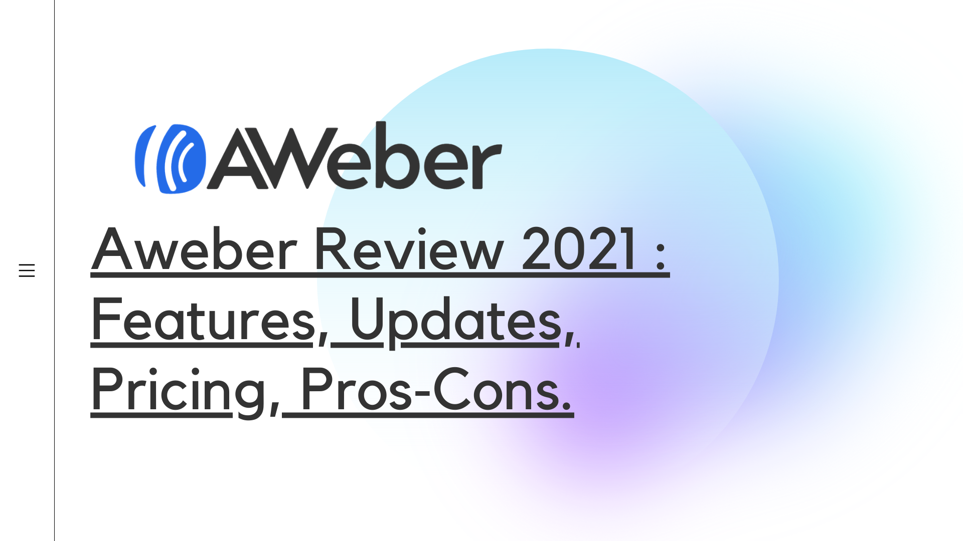 AWeber Review 2021 cover photo