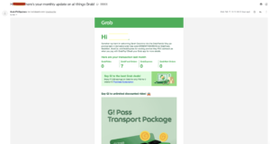 Grab Personalized Subject Line