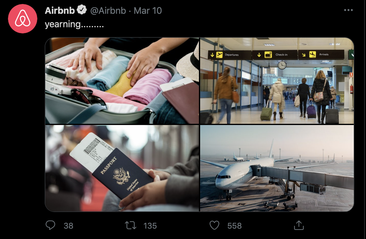 Airbnb Twitter Page