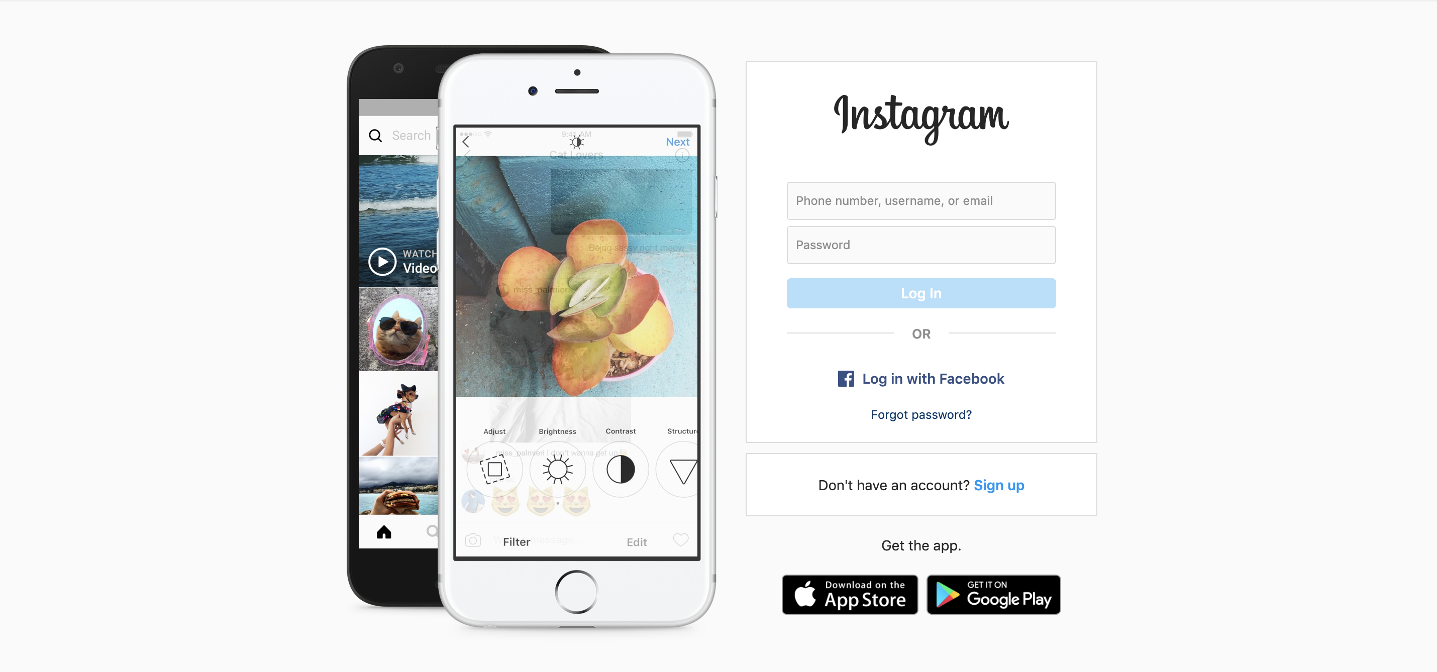 Instagram Sign up Page