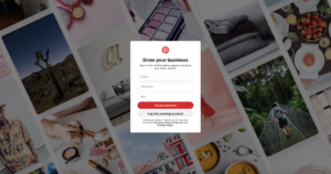 Pinterest business account signup