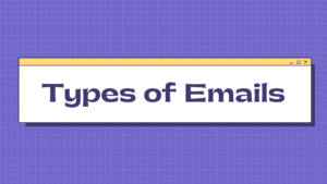 Small business email marketing types of emails