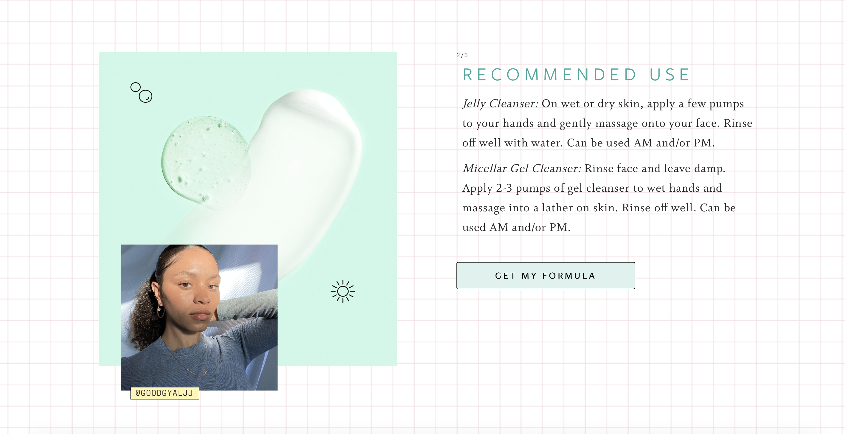 function of beauty product customer feature