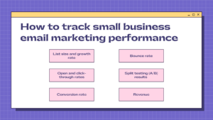 how to track small business email marketing performance